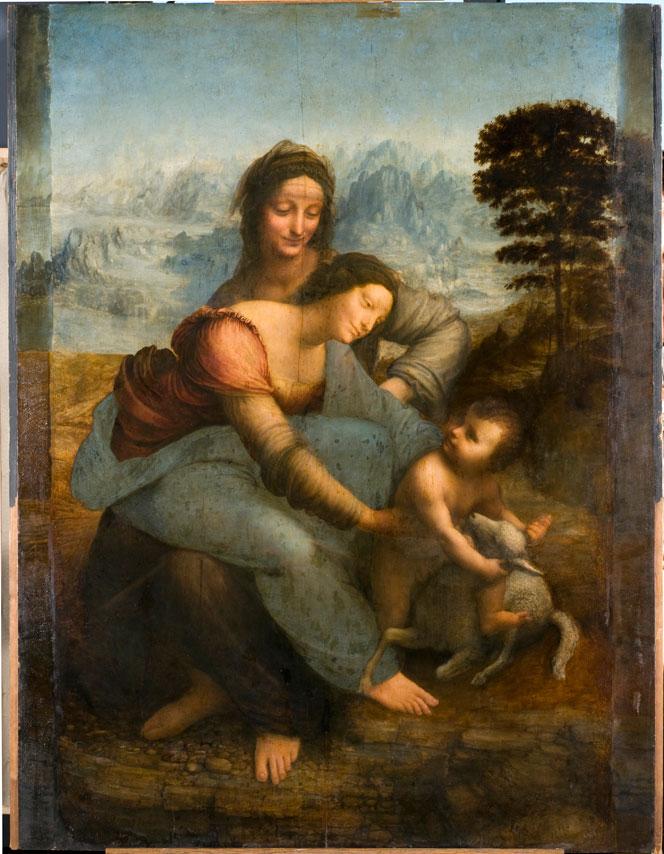 Leonardo da Vinci, Madonna col bambino e sant'Anna, 1510 e dopo, Parigi Louvre