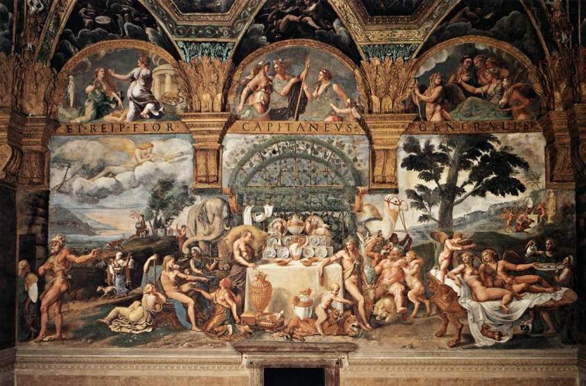 """Affresco """"Banchetto nuziale di Amore e Psiche"""" Palazzo Te (Mantova)"""